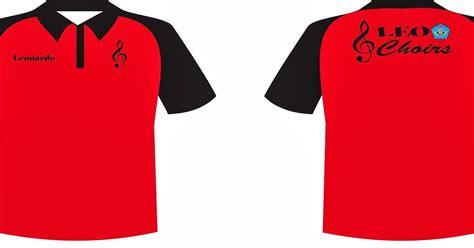 Kemeja Bordir Warna Navy Depan Belakang Ada Bordir hanung s world contoh desain baju polo shirt kelompok paduan suara