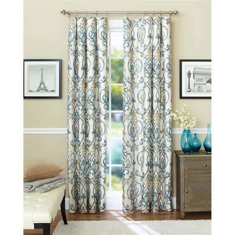 Window Curtain Panel Decorating Energy Efficient Blackout Curtains Walmart Better Homes And Gardens Damask With Room