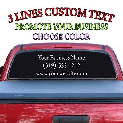 Auto Decals Letters by Rear Window Auto Decal Vinyl Letters Promote Your Business