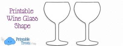 wine glass template printable wine glass shape printable treats