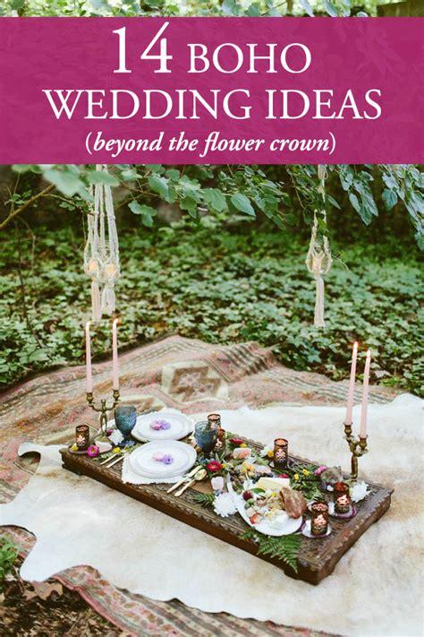 beyond flower crowns bohemian wedding ideas for your big day junebug weddings