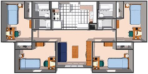 Rogers Center Floor Plan by Student Apartments Rogers State University