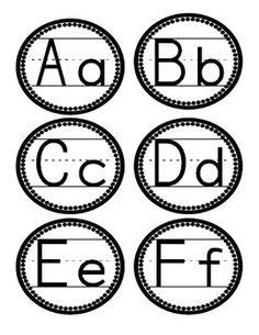 printable alphabet letters for wall polka dot word wall letters free kindergarten