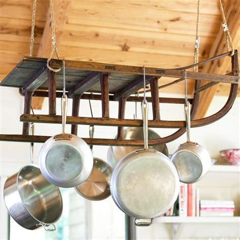 kitchen pot rack ideas dishfunctional designs creative upcycled kitchen pot racks