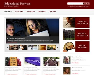 free css templates for educational websites educational prowess free psd website template psd