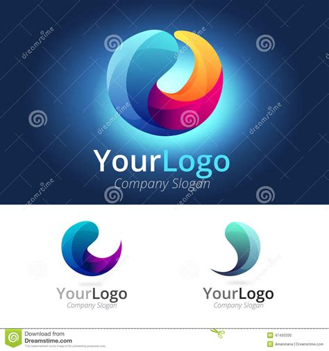 colorful circle logo colorful circle logo stock vector image 47450330