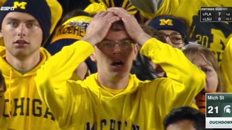 shocked michigan wolverines fan gets turned into a jack o