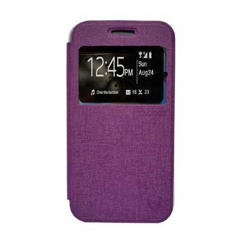 jual zagbox flip cover casing for andromax a ungu