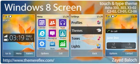 windows 8 screen theme for nokia x2 00 c2 01 x3 240 320 updated windows 8 screen theme for nokia asha 303 x3 02 touch