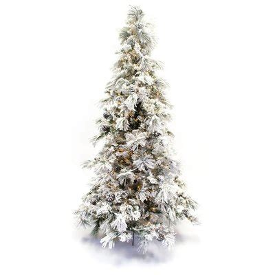 menards colorado flocked pine flocked trees you ll wayfair