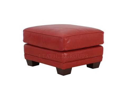 301 Moved Permanently Top Grain Leather Ottoman