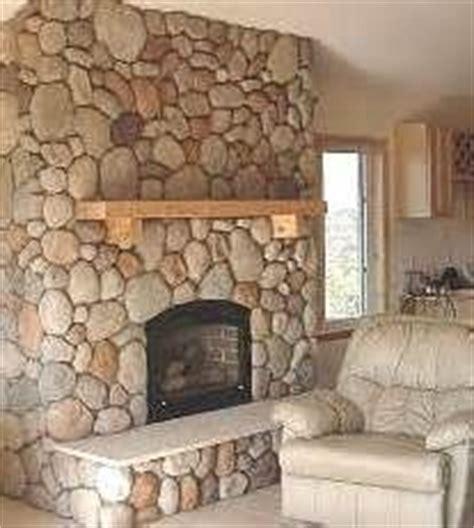 rock fireplaces river stones faux river rock