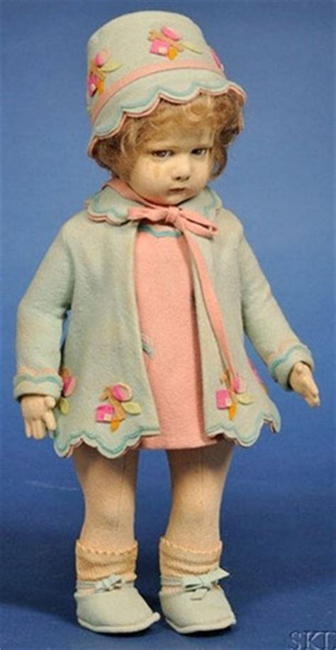 lenci doll values cloth doll lenci brown pouty