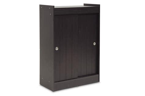 baxton studio espresso shoe rack cabinet affordable