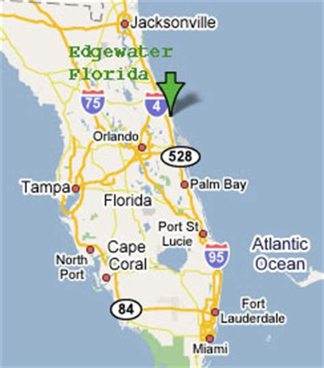 map of edgewater florida sighting reports 2006