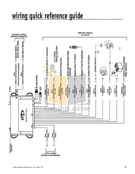 avital 2101l wiring diagram avital 4113 remote car starter
