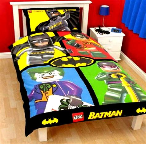 batman dc comics lego cards single panel duvet set quilt