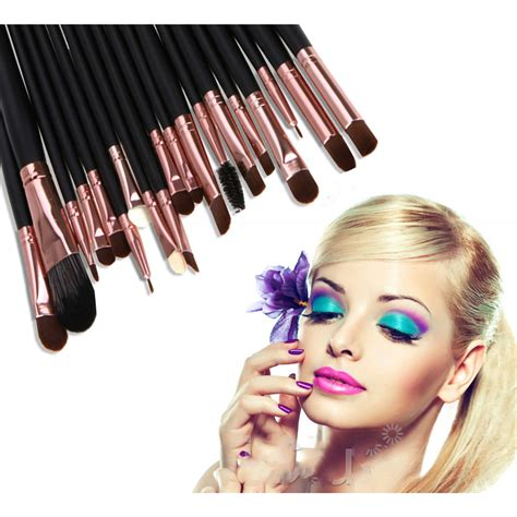 Kuas Makeup Brown kuas make up uk professional cosmetic brush 20 set black
