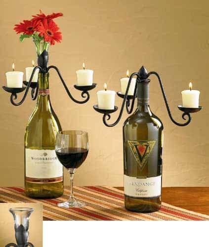 wine bottle vase centerpieces flower vase candelabra wine bottle topper