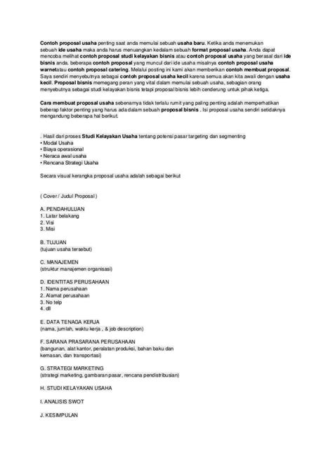 format proposal studi kelayakan usaha contoh format proposal usaha kecil loak info