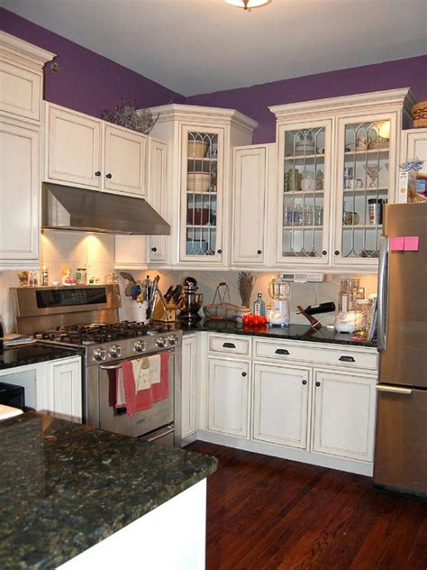 small kitchen with white cabinets countertops for small kitchens pictures ideas from hgtv