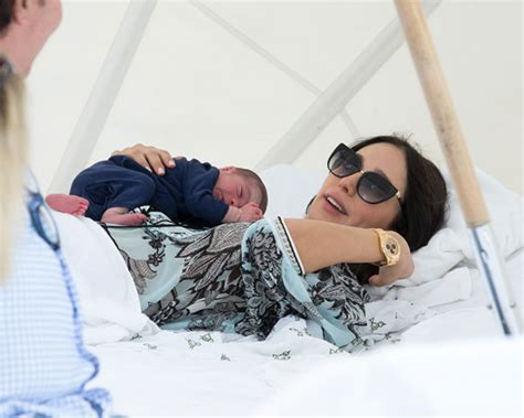 simon cowell and lauren silverman leave baby eric at home simon cowell and lauren silverman take baby eric on first