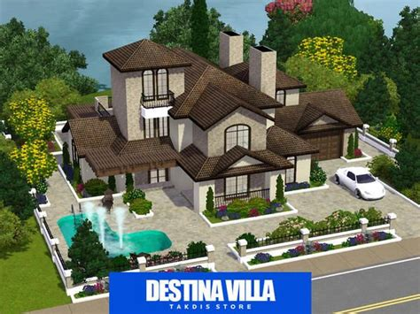 housess on pinterest sims 3 sims and mansions the sims resource tsr destina luxury mansion by takdis