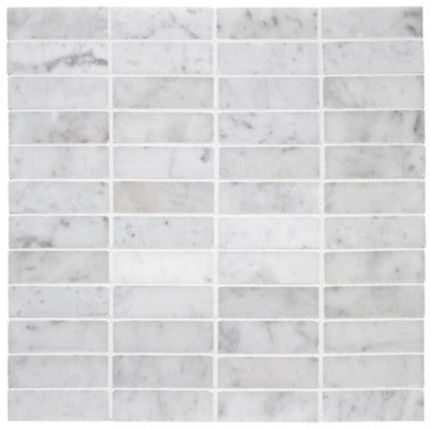 11 15sf carrara marble 1x3 stacked mosaic tile