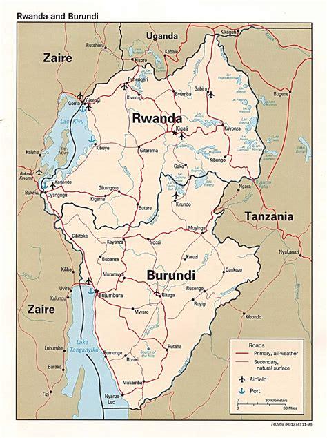 rwanda map nationmaster maps of rwanda 9 in total