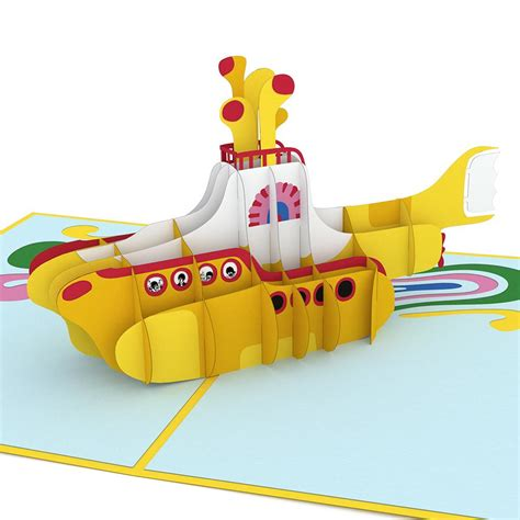 Beatles Yellow Submarine Lava L by The Beatles Yellow Submarine Pop Up Card Lovepop