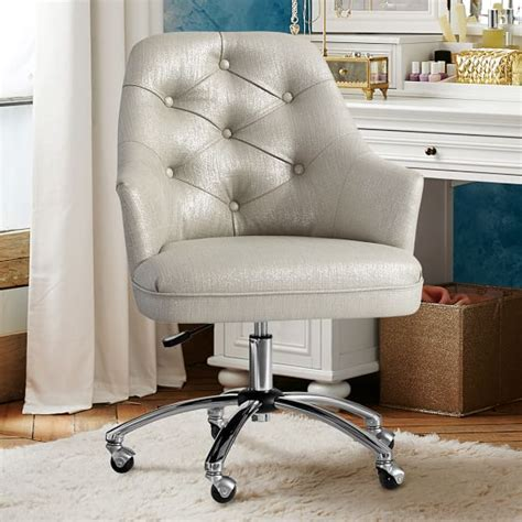 velvet swivel desk chair twill tufted desk chair pbteen