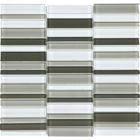 shop allen roth city links glass mosaic wall tile