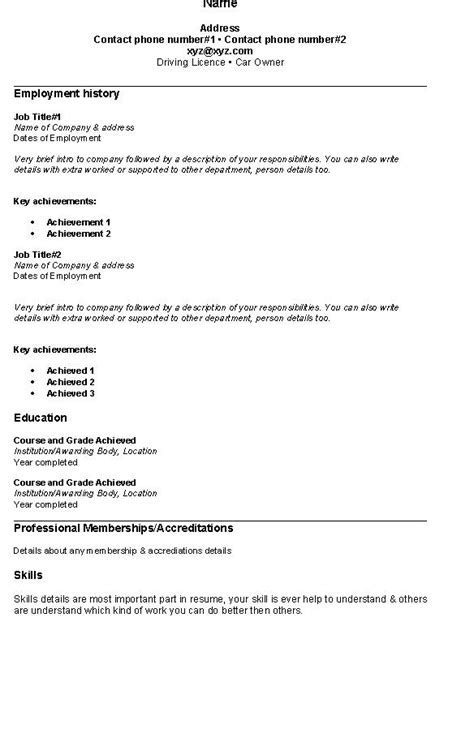 fresh jobs and free resume samples for jobs simple resume - Simple Resume