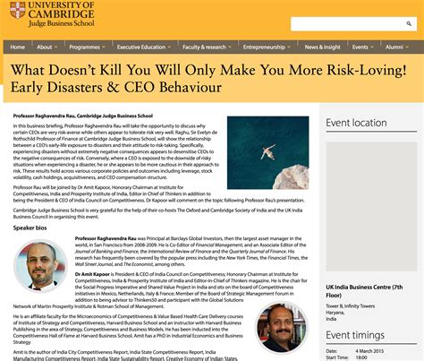 Judge Mba Curriculum by What Doesn T Kill You Will Only Make You More Risk Loving