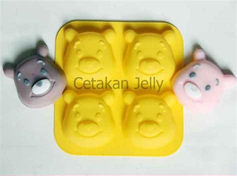 Cetakan Kue Puding Big Aster Berkualitas cetakan silikon puding kue pooh 4 cavity cetakan jelly