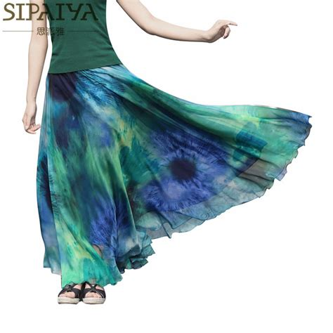 summer skirts womens 2017 new ankle length pleated
