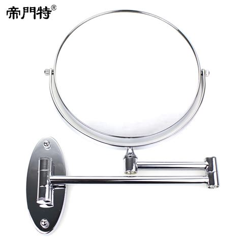 retractable bathroom mirror mirror wall mounted makeup mirror folding double faced