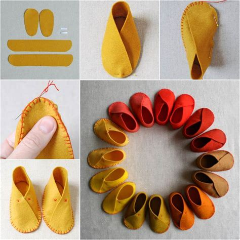 Easy Handmade Baby Gifts - how to diy easy felt baby shoes