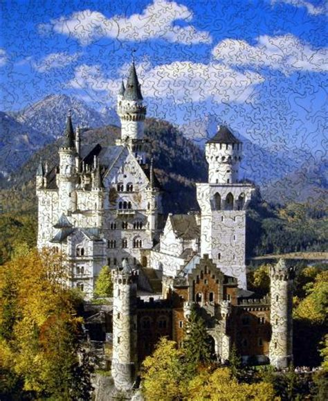 castle neuschwanstein wooden jigsaw puzzle liberty