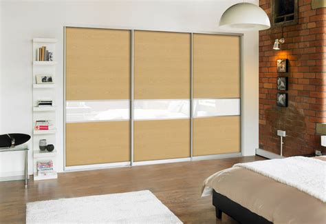 Symphony Wardrobes by Oak And White Glass In Aluminium Frame Moorgate Kitchens