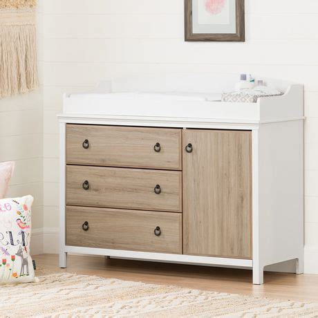 South Shore Catimini Changing Table With Removable South Shore Changing Table And Dresser White
