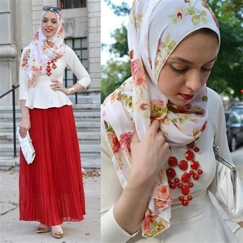 Blouse Hani maxi skirrt with white blouse stylish
