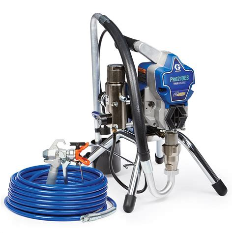 home depot paint sprayer rental cost canada graco pro210es airless paint sprayer 17d163 the home depot