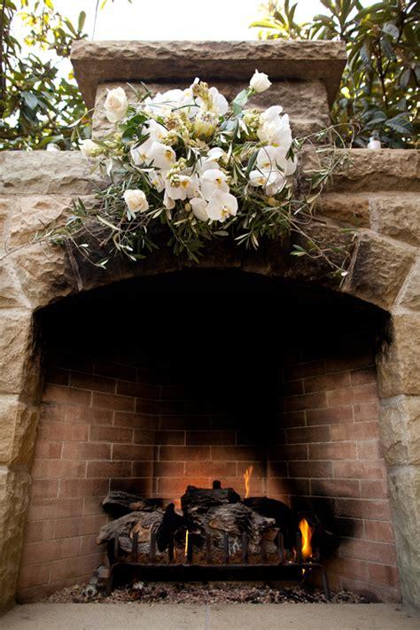 fireplace wedding ceremony backdrop elizabeth