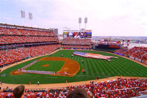 The Greatest American Opening Reds Opening Day Rallyfountain Square Cincinnati Ohio