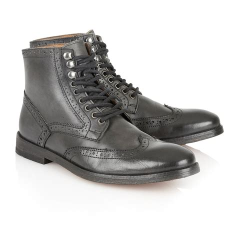 black brogue boots buy s frank wright whitby brogue boots