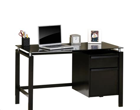 rta bedroom furniture studio rta lake point desk in black black glass bedroom