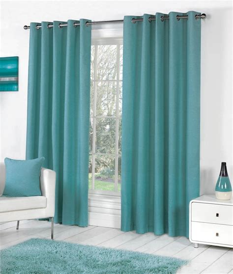 eyelet drapes sorbonne eyelet curtains in teal free uk delivery