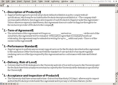 Peoplesoft Supplier Contract Management 9 1 Peoplebook Contract Clause Template