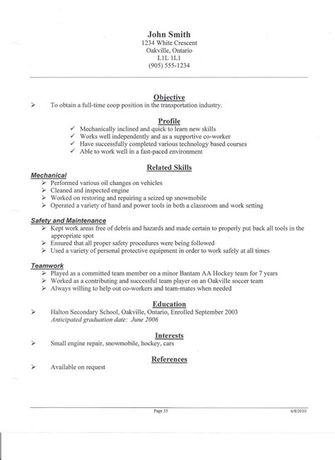 resume sles for tim hortons 28 images resume sles for